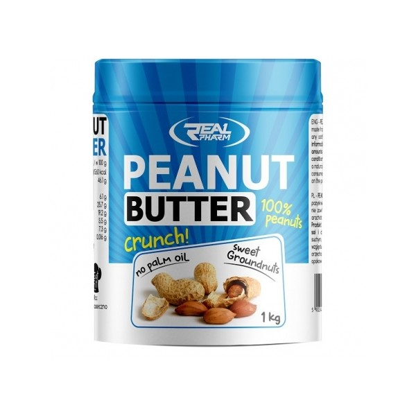 Real Pharm Peanut Butter Crunchy 1000g