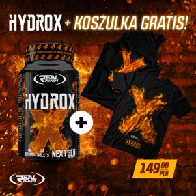 REAL PHARM HYDROX – 120 TABS + T-SHIRT GRATIS!
