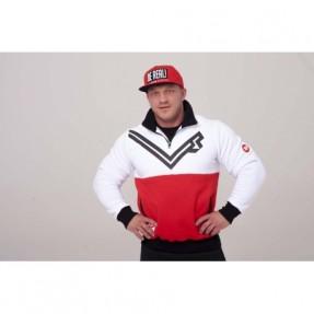 Real Wear Bluza Avangarda biało-czerwona