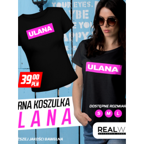 "REAL PHARM T-SHIRT ""ULANA"" BLACK"