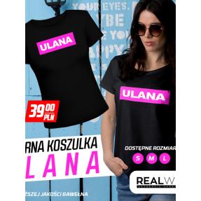 """REAL PHARM T-SHIRT """"ULANA"""" BLACK"""