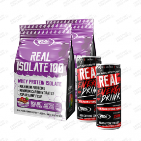 Zestaw Real Isolate 700g 2x + 2x Energy Drink