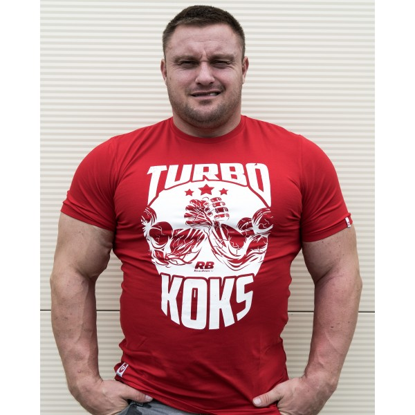REAL WEAR T - SHIRT TURBO KOKS CZERWONA