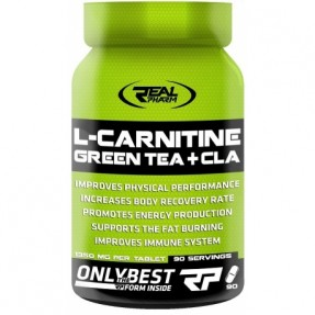 Real Pharm L-carnitine Green Tea & CLA 90 tabs