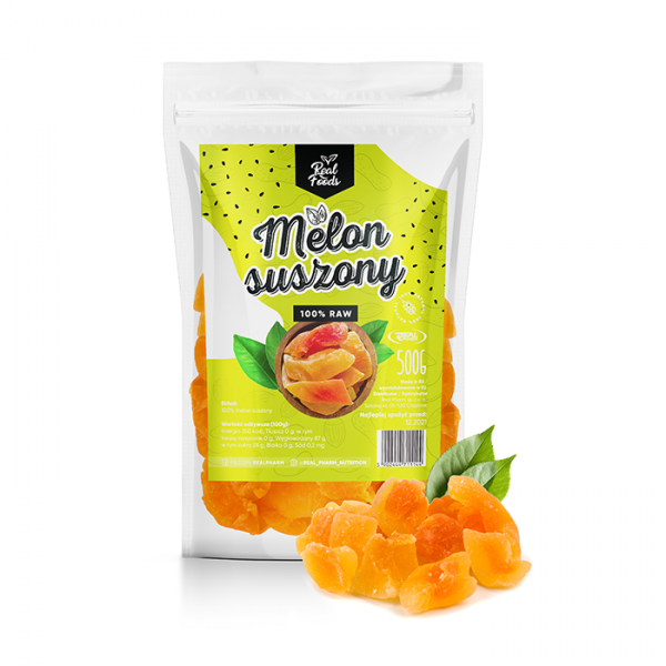 Real Foods - Melon suszony 500g