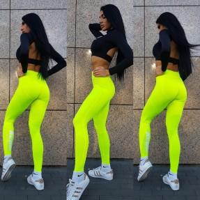 Real Wear Legginsy Fluo Żółte