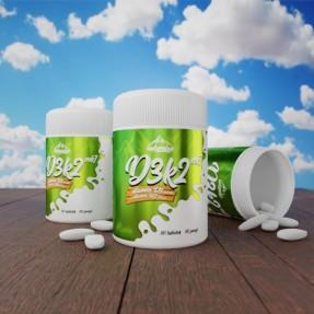Naturalne Nutrition - Witamina D3 K2 90tab